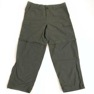 Eddie Bauer Travel Hiking Zip Off pants 38 x 30